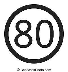 limite 80 trafic signe vitesse signe limite trafic 80 vitesse blanc. Black Bedroom Furniture Sets. Home Design Ideas