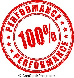 Maximum performance stamp - Maximum performance vector stamp