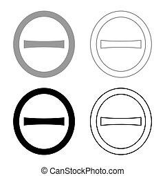 mayúscula, capital, imagen, griego, plano, contorno, símbolo...