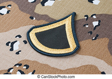 May 12, 2018. US ARMY Private First Class rank patch on ...
