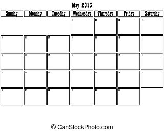 May 2013 planner