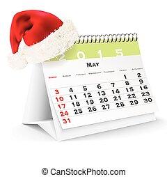 May 2015 desk calendar