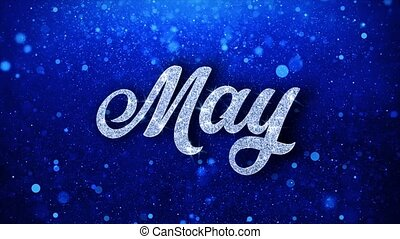 May Blue Text Wishes Particles Greetings, Invitation, ...