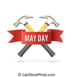 May Day background template.
