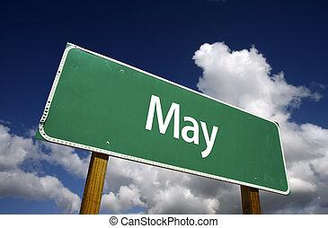 May Green Road Sign