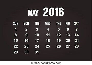 May Month 2016