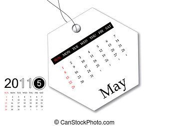 May of 2011 calendar