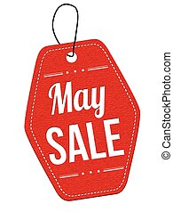 May sale label or price tag