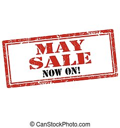 May Sale-stamp - Grunge rubber stamp with text May Sale-Now...