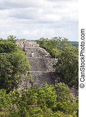 maya, 台なし, calakmul