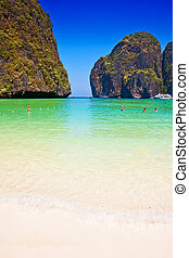 Maya bay beach on Phi Phi island, Thailand