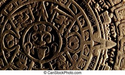 maya, calendário, vermelho, espaço, zoom