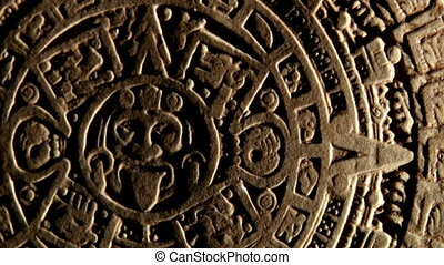 Maya calendar, red space, zoom out - Maya civilization,...