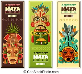 Maya Civilization Vertical Banners - Ancient maya...