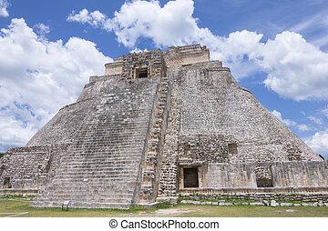 Maya culture in Yucatan, Mexico - Magnificent detail of Maya...
