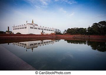 Maya Devi temple, the birth place of Gautama Buddha, in ...