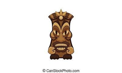 Maya idol icon animation cartoon object on white background