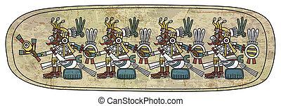 Maya ornament on the stone