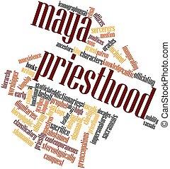 Maya priesthood - Abstract word cloud for Maya priesthood...