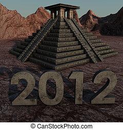 maya, pyramide, 2012