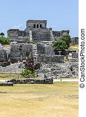 maya, ruinas, tulum