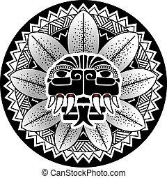 Maya snake deity vector illustratio