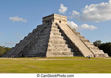 maya, tempel, chichen itza
