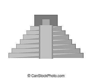 mayan, ピラミッド, アイコン