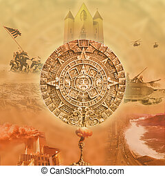 Mayan calendar - Illustration based on the Mayan calendar....
