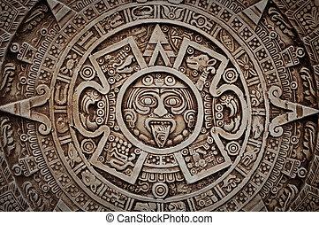 Mayan calendar Ancient mayan tapestry stock photo Search