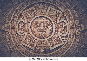 Mayan Calendar with Retro Intagram Style Filter