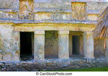 Mayan construction in Tulum Mexico