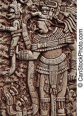 mayan, indiai, harcos