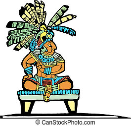 Mayan King #2 - Mayan King designed after Mesoamerican...