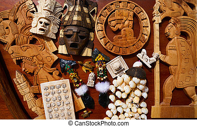 Mayan mexican handcrafts souvenirs mix - Mayan mexican...