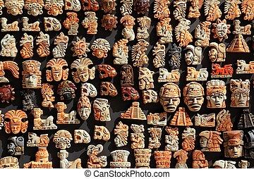 mayan, mexikó, erdő, handcrafts, alatt, dzsungel