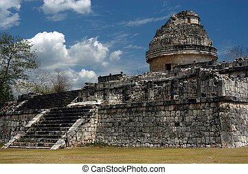 Mayan observatory - Ancient mayan observatory in Chichen...