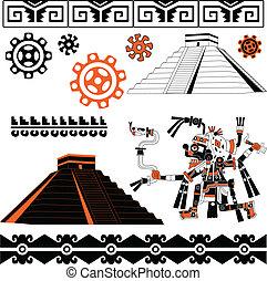 Mayan ornaments - Vector of Mayan ornaments