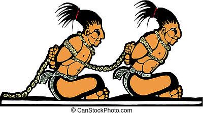 mayan, prigionieri
