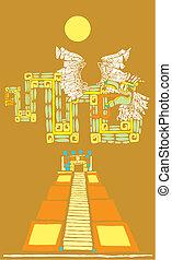 Mayan Pyramid and Kukulcan