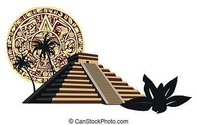 mayan, pyramid
