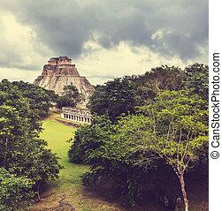 Uxmal - Mayan pyramid in Uxmal, Yucatan, Mexico