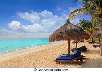 Mayan Riviera beach palm trees sunroof Caribbean