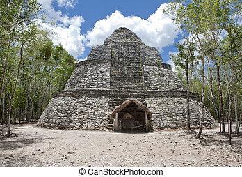 Ancient ruins in Coba, Mexico