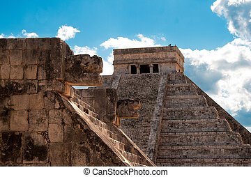 Mayan ruins in Chichen Itza.