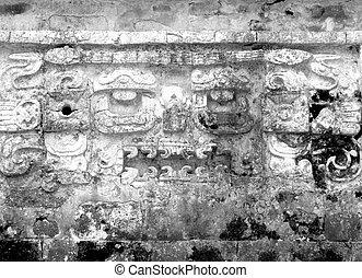 Mayan ruins of Chichen Itza Frieze