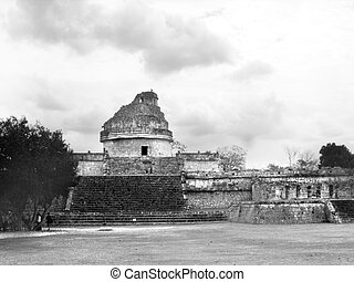 Mayan ruins of Chichen Itza Observatory