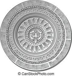 Mayan Sun stone symbol