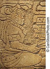 mayan, szobor