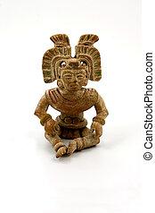 Mayan terracotta - Isolated mayan terracotta
